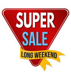 super sale label or sticker vector image
