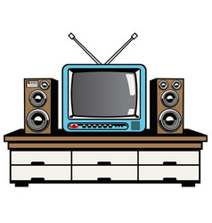 Television and audio system vector
