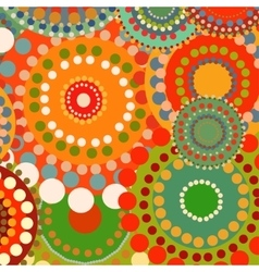Textile color retro background ornament circles vector