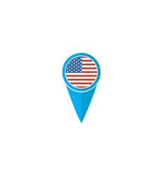 usa pin flag for logo design vector image