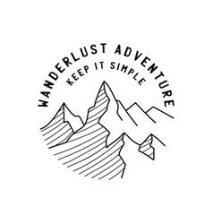 Vintage simple camp logo design outdoor adventure vector