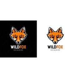 Wild fox logo icon vector