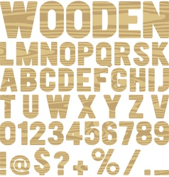 Wooden type vector