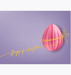 background with paper egg vector image