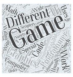Computer game programming word cloud concept vector