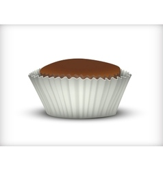 Cupcake in white Cup vector image vector image