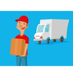 Delivery service man vector image