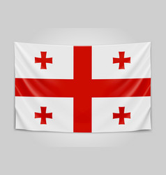 hanging flag of georgia georgia national flag vector image vector image