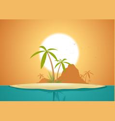 idyllic island poster vector image vector image