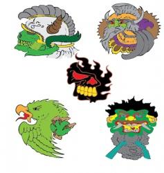 warriors vector image