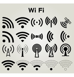 Wi Fi icons set vector image vector image