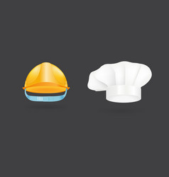Different kind of fashion cook hat modern elegance vector
