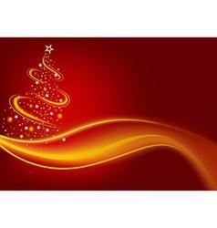 Fiery Christmas Tree vector image vector image