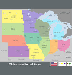 Midwestern united states vector