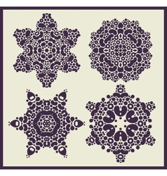 Ornamental stars patterns vector image vector image