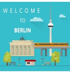 Welcome to Berlin vector image