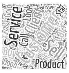 What is Customer Service text background wordcloud vector image vector image