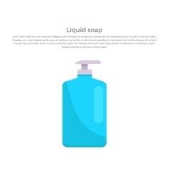 Liquid Soap Concept Banner vector image