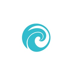 water wave icon abstract logo vector image vector image