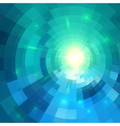 Abstract blue shining circle tunnel background vector