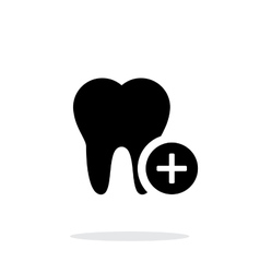 Add tooth icon vector image vector image