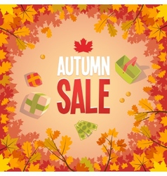 Autumn sale advertising poster vector image vector image