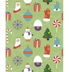 Colorful seamless Christmas pattern vector image