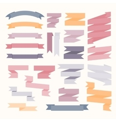 Pastel color ribbons set vector image vector image