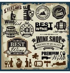 wine labels vector image vector image