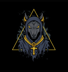 anubis dog vector image