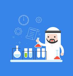 Arab teacher or businessman experiment vector