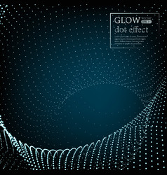 array with dynamic particles 3d technology style vector image vector image