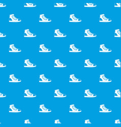 athletic shoe pattern seamless blue vector image