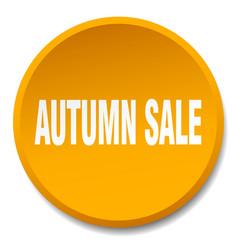 Autumn sale orange round flat isolated push button vector