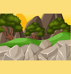 background design landscape with mountains at vector image