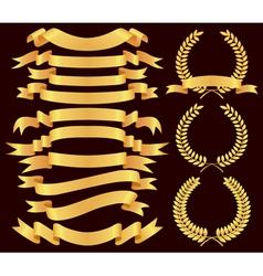 banner laurel vector image vector image