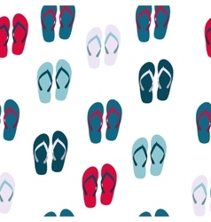 Beach Seamless Background with Flip Flops vector