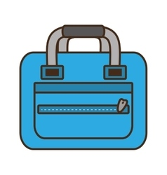 blue bag packback travel tourist vector image