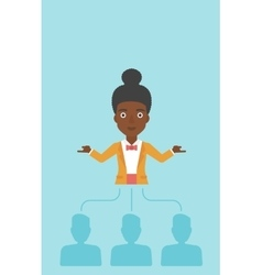Business woman choosing employee vector image