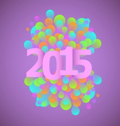 Celebration 2015 concept on violet background vector
