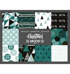 Christmas and New Year abstract geometric vector image