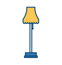 classic floor lamp vector image