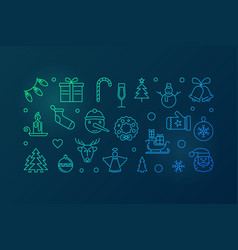 colored happy new year horizontal vector image