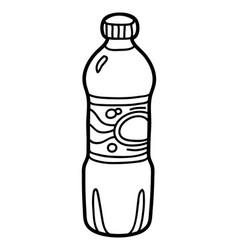 Coloring book water bottle vector