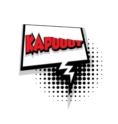 Comic text Kapuut sound effects pop art vector image