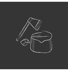 Deforestation Drawn in chalk icon vector