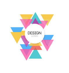 design logo template colorful abctract geometric vector image