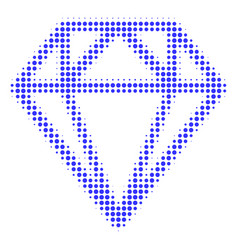 diamond halftone icon vector image