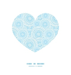 Doodle circle water texture heart silhouette vector
