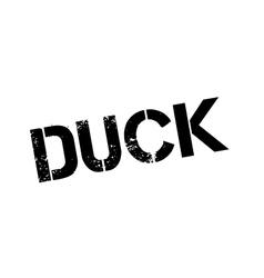 Duck rubber stamp vector